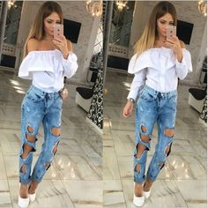 >> Click to Buy << 2017 Hot sale Women's fashion sexy off-the-shoulder falbala shirt in spring and summer,Female small grid long sleeve blouse #Affiliate