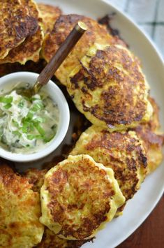 Squash Fritters with Basil Buttercountryliving