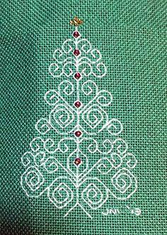 Blackwork Christmas Tree