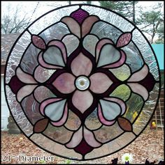 Victorian circle stained glass #StainedGlass