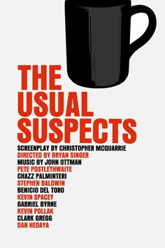 The Usual Suspects Movie Poster Paper or Plexiglas by FunnyFaceArt, $15.00