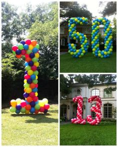 Giant balloon numbers for the yard!