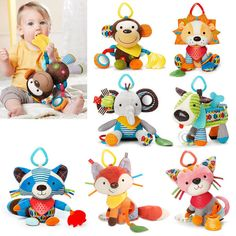 Strollers Accessories Activity & Gear Professional Sale Baby Stroller Pendant Plush Fish Cartoon Mirror Pacifier Hanging Bed Cute Toys Soft Squeaky Rattle Newborn Sleeping Infant Kids Cool In Summer And Warm In Winter
