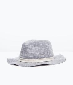 ZARA - NEW THIS WEEK - NATURAL WOVEN HAT