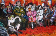 Elisa en el Cabaret, estudio de Paris en 1930 y Toulouse Lautrec, obra realizada con acrílico sobre lienzo.