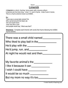 Poem Worksheets for Kids. 20 Poem Worksheets for Kids. Poem for Kids Esl Worksheet by Sindelll Teaching Poetry, Have Fun Teaching, Writing Poetry, Poetry Unit, Poetry Lesson Plans, Poetry Lessons, Writing Worksheets, Worksheets For Kids, Printable Worksheets