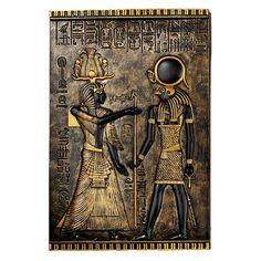 Ancient Egyptian Horus Wall Decor Temple Stele Plaqu