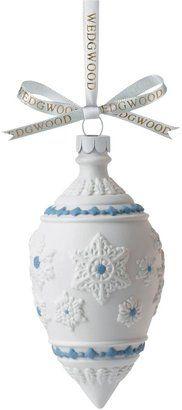 Wedgwood Snowflake Teardrop Decorative Ornament
