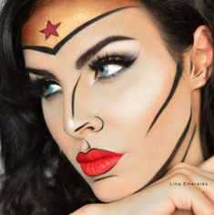 Wonder Woman Makeup by Lina Emeralds #WonderWoman #Makeup #Beauty #WonderWomanFilm #LinaEmeralds - Embrace your inner geek, find your perfect product at gearabilia.com and connect with our incredible community.