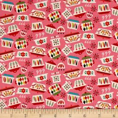 Designed by Andrea Muller for Riley Blake Designs, this cotton print fabric is perfect for quilting, apparel, and home decor accents. Colors include pink, green, yellow, red, and white.