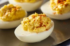 Instead of ruining a perfectly healthy egg with mayo, try our healthy deviled egg recipe that tastes just as great as the original!