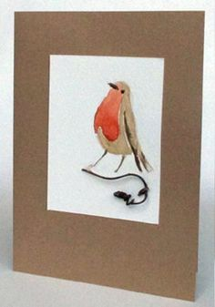 English Robin 2 by fmhandpaintedcards on Etsy Paint Cards, Robin, Hand Painted, English, Unique Jewelry, Handmade Gifts, Prints, Etsy, Vintage