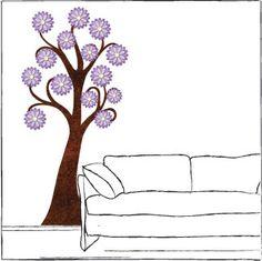 Garden Tree Sticker – Purple birds, butterflies #NewYearNewRoom