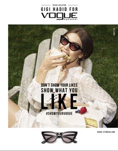 c37e4998c1ba6 Top model Gigi Hadid teams up with fashion photography duo Mert Alas and  Marcus Piggott for Vogue Eyewear s Special Collection advertising campaign.
