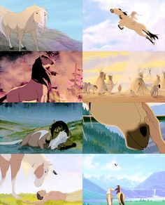 I remember the sun, the sky, and the wind calling my name in a time when wild horses ran free. Dreamworks Animation, Disney Animation, Animation Film, Disney And Dreamworks, Spirit The Horse, Spirit And Rain, Disney And More, Disney Love, Disney Art