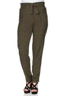 sheego Trend Hose - dunkeloliv   Damenmode online kaufen