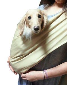 Amazon.com : Foldable Pet Dog Cat Carrier Sling Bag with Safety Leash (Khaki, L) : Pet Supplies