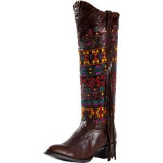 Women's Johnny Ringo Volcano Aztec Embroidered Cowgirl Boots