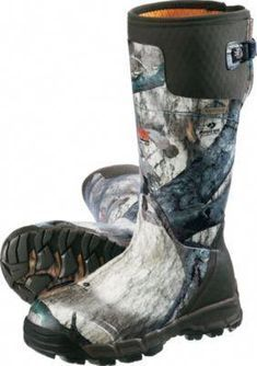 c1dd10bfcf0 LaCrosse Alphaburly Pro Rubber Boots keep you warm and dry during late  season hunts. Back gussets with cinch straps for adjustable fit that  accommodate ...