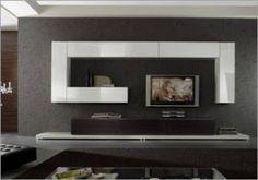 69 veces he visto estas lindas muebles minimalistas. Living Room Tv, Living Room Modern, Tv Wall Decor, Tv Furniture, Tv Unit Design, Tv Cabinets, Minimalist Living, House Design, Contemporary