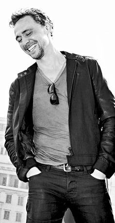Because happy Tom + leather pants = happy fangirls.