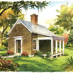 Garden Cottage <br />Plan #1830 - 21 Tiny Houses - Southern Living
