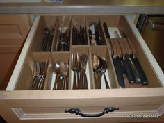 Full of Great Ideas: DIY Cutlery Drawer Divider - on my $0 budget