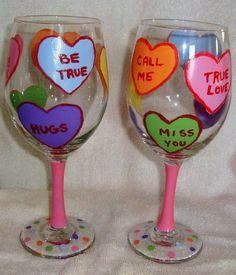 Valentines Set of 2 Hand Painted Conversation Hearts Wine Glasses , http://www.amazon.com/dp/B00B7PL8XU/ref=cm_sw_r_pi_dp_EtYdrb15R4XZ5