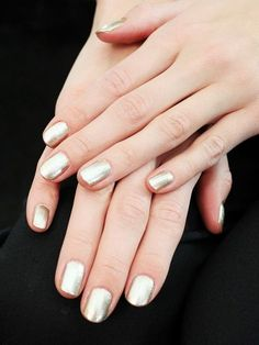 Dry Brushing: The New Metallic Manicure Technique from Naeem Khan