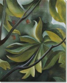 georgia-okeeffe-green-leaves-1921