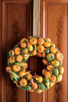 Festive Fall Wreath Ideas: Pumpkin and Gourd Fall Wreath