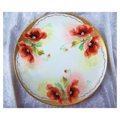 This brilliantly vintage Bavaria hand painted Floral Plates was decorated by the Pickard Artist Edward Mentges. (Please see Reed's Pickard Collectors Book for bio). Mentges is known for his Burnt Orange Decor, Red And Pink Roses, Orange Poppy, Hand Painted Plates, Green Grapes, Chocolate Pots, Poppies, Tea Pots, Bavaria