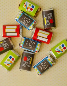 Back To School PRINTABLE Mini Candy Bar Wrappers by lovetheday, $8.00