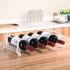 Metal iron bottle wine rack room kitchen shelf storage metal wine holder