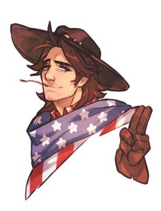 """gachichubbs: """"an ode to my most favorite thing in the world: american skin jesse mccree """""""