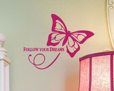 Follow Your Dreams Wall Quote saying vinyl decal by HouseHoldWords, $15.00
