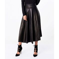 OH MY LOOK Black Maxi Skirt ($37) ❤ liked on Polyvore featuring skirts, ankle length skirts, floor length skirt, stretchy maxi skirt, long stretchy skirts and long skirts