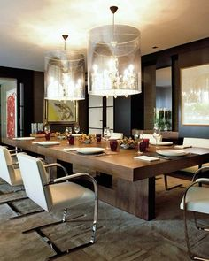 chaises contemporaines salle manger et lustres modernes