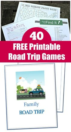 40 Free printable Road Trip Games & Activities + how to make a travel binder for kids, tweens and teens for long car rides! Perfect for family trips this summer! Road Trip Activities, Activities For Teens, Road Trip Games, Family Activities, Daddy Yankee, Photography Beach, Travel Checklist, Travel Tips, Travel Packing