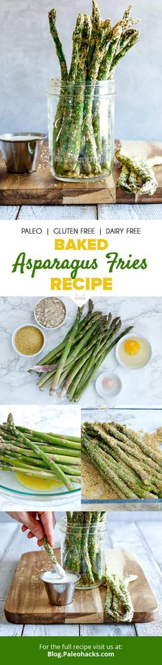 Lighten up your fries by swapping heavy potatoes with crunchy asparagus! Get the full recipe here: https://paleo.co/asparagusfries