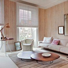 Contemporary wood-effect living room | Neutral living room ideas | Living room decorating ideas | PHOTO GALLERY | Livingetc | Housetohome.co.uk