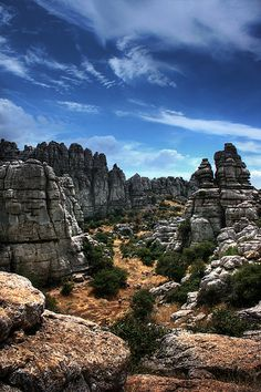 El Torcal de Antequera is a nature reserve in the Sierra del Torcal mountain range located south of the city of Antequera, in the province of Málaga in Andalusia, Spain www. Cadiz, Magic Places, Andalucia Spain, Places Around The World, Around The Worlds, All Nature, Spain And Portugal, Aragon, Roadtrip