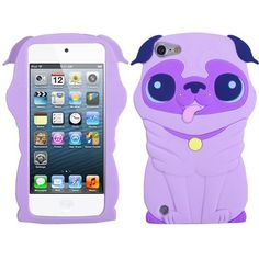 Purple Dog Silicone Soft Cover Case for Apple iPod Touch 5 5th Gen by Valor