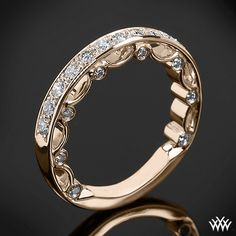 Rose Gold Verragio Pave   Diamond Wedding Ring from the Verragio Paradiso Collection.