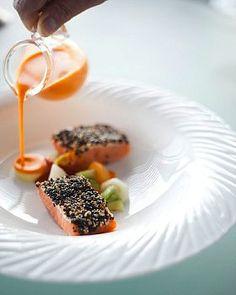 Salmon, Felix Restaurant, Hong Kong