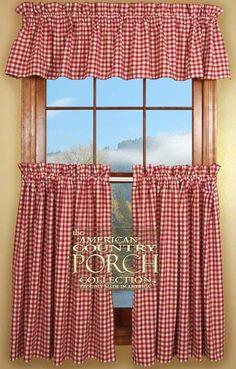 60 best red kitchen curtains images curtains decorating kitchen rh pinterest com
