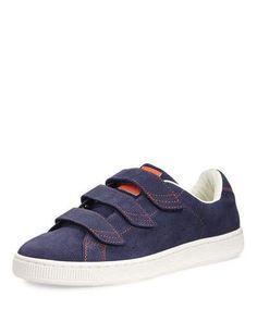 PUMA Men'S Basket Corduroy Low-Top Sneaker, Navy. #puma #shoes #