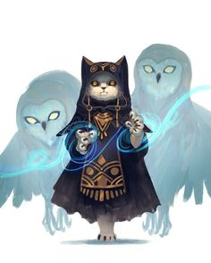 owl sorcerer, Soojung Ham - Fitness and Exercises, Outdoor Sport and Winter Sport Cat Character, Fantasy Character Design, Character Design References, Character Design Inspiration, Character Concept, Dungeons And Dragons Characters, Dnd Characters, Fantasy Characters, Fantasy Anime