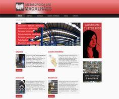 Site para metalúrgica Uni Magalhães.