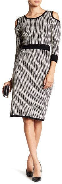 Taylor Cold Shoulder Midi Sweater Dress Classy   o…